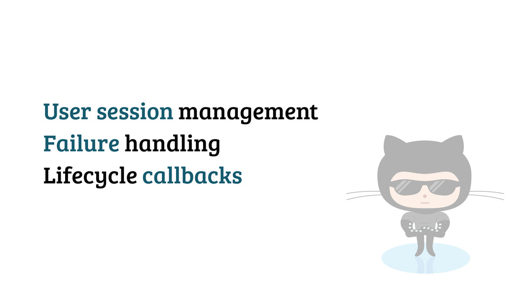 User session management Failure handling Lifecy...