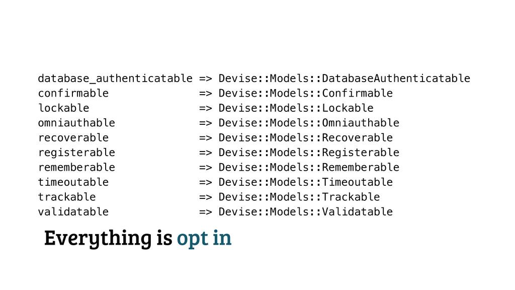 database_authenticatable => Devise::Models::Dat...