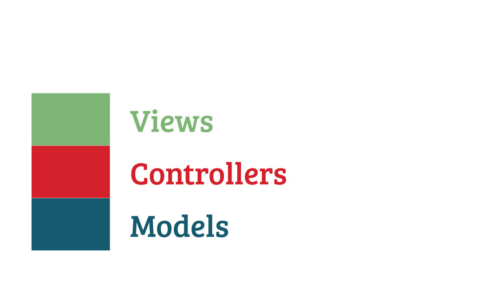 Models Controllers Views