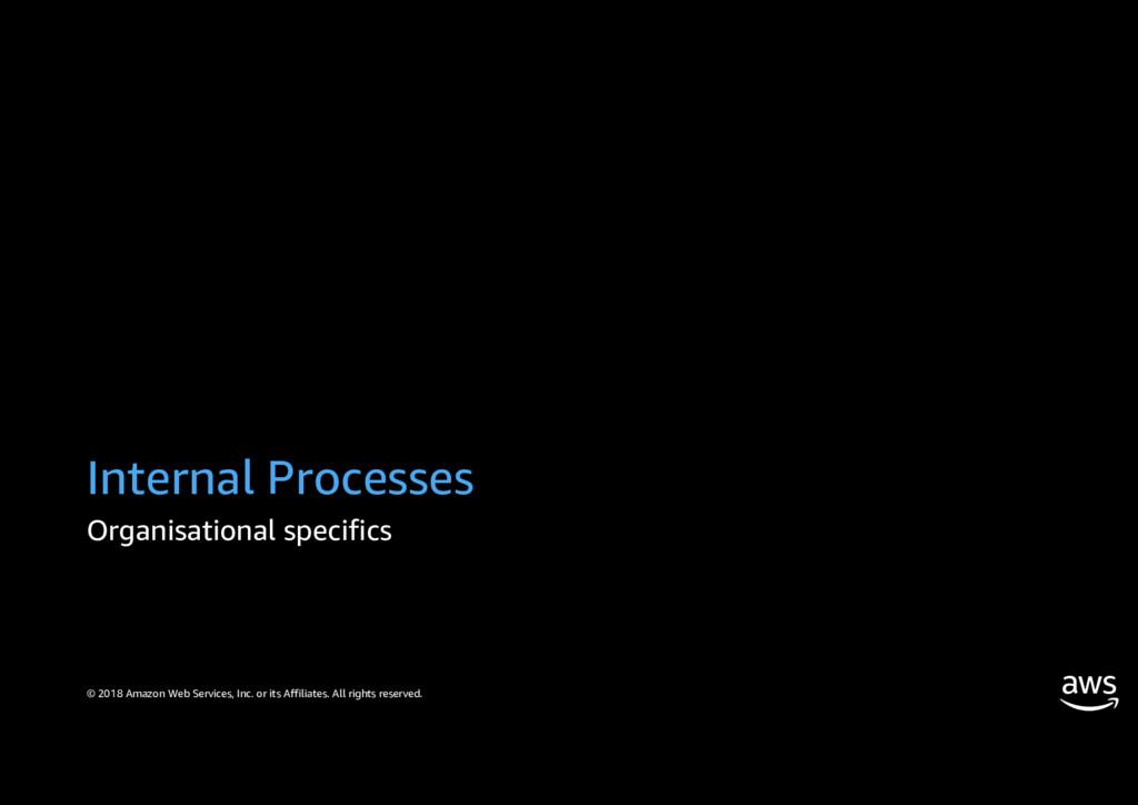 Internal Processes Organisational specifics © 2...