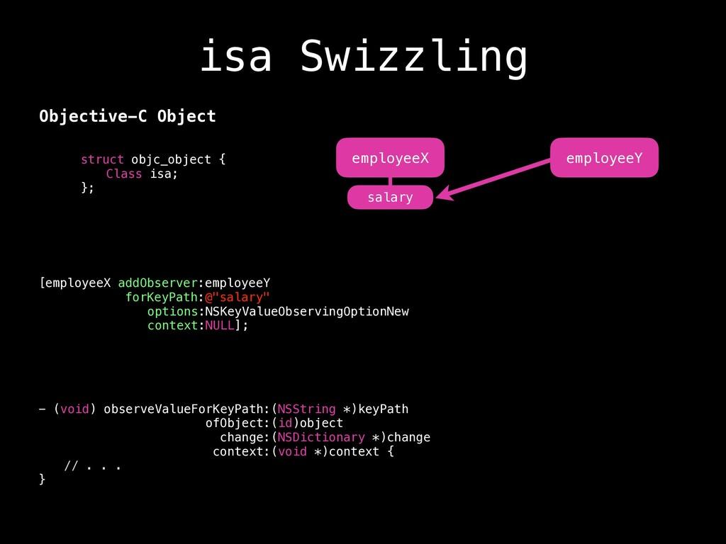 isa Swizzling struct objc_object { Class isa; }...