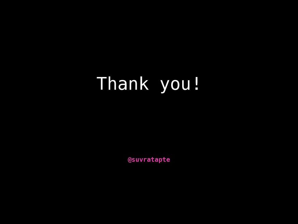 Thank you! @suvratapte