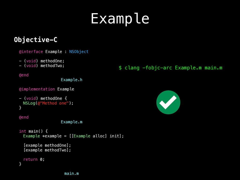 Example Objective-C @interface Example : NSObje...