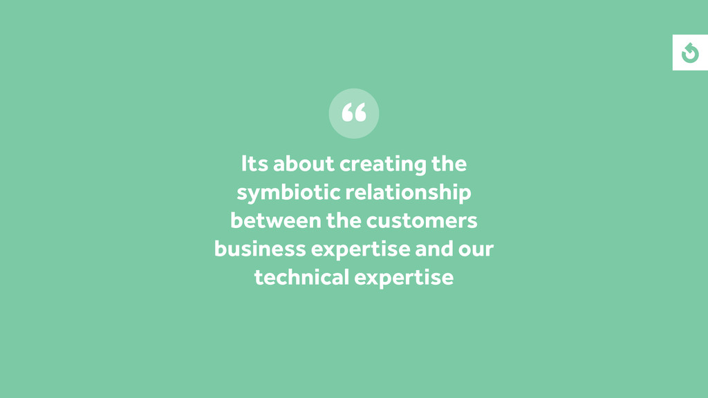 Its about creating the symbiotic relationship b...