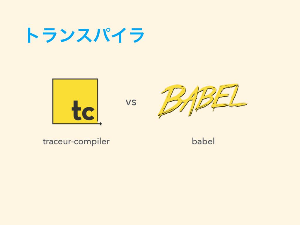 τϥϯεύΠϥ traceur-compiler babel vs