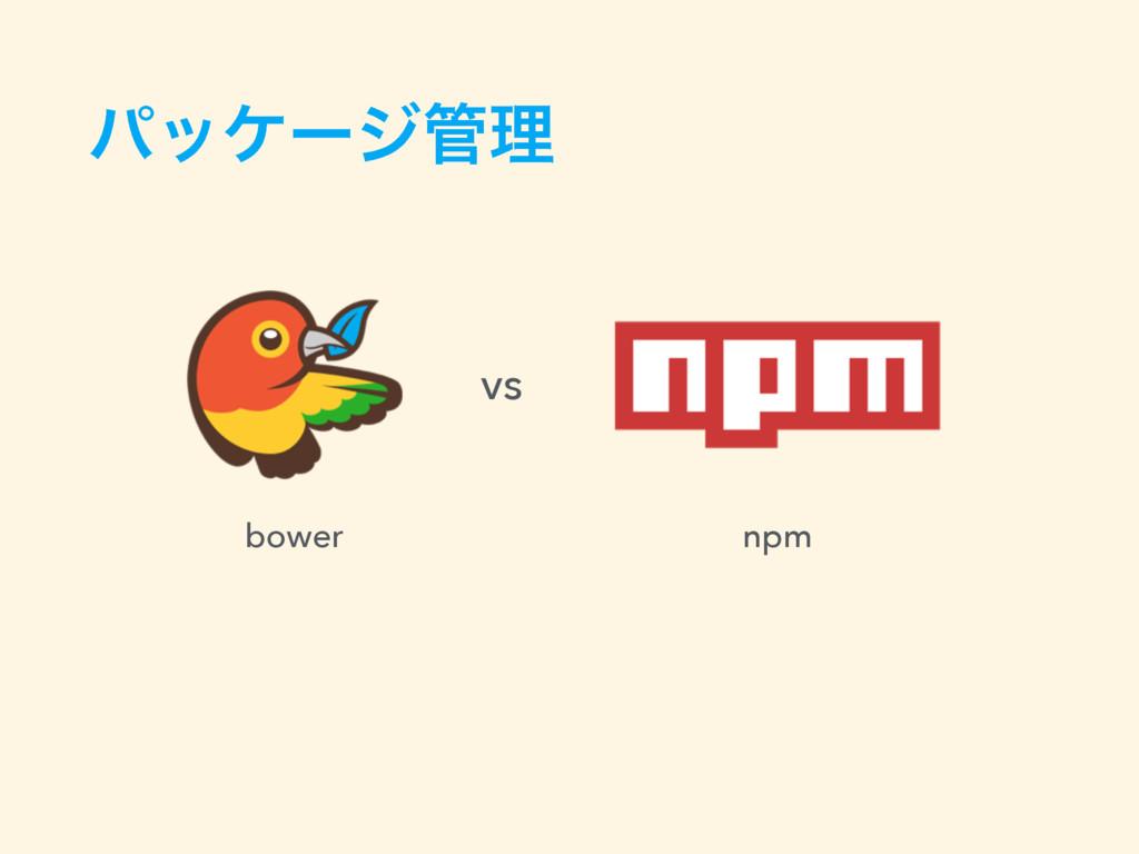 ύοέʔδཧ bower npm vs