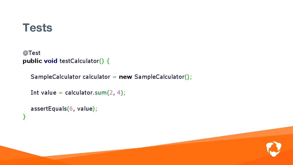 @Test public void testCalculator() { SampleCalc...
