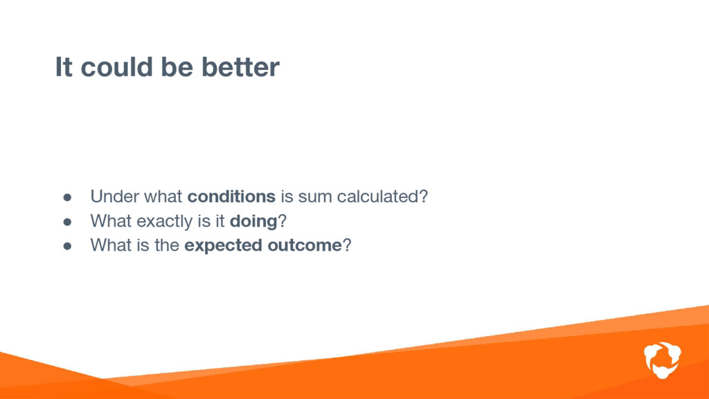 ● Under what conditions is sum calculated? ● Wh...
