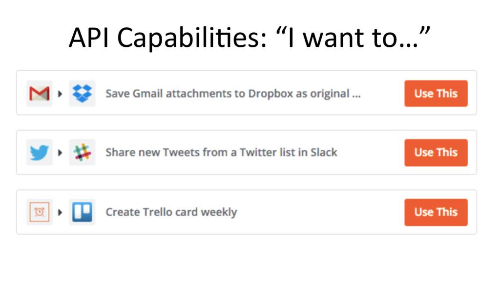 "API Capabili@es: ""I want to…"""