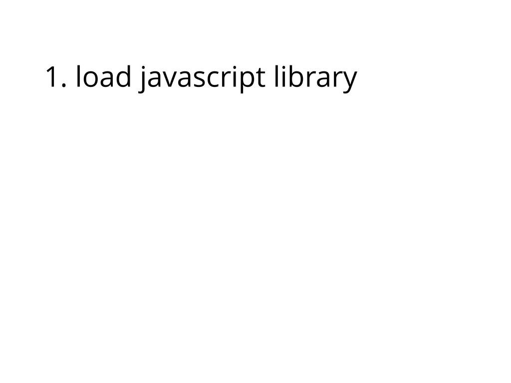 1. load javascript library