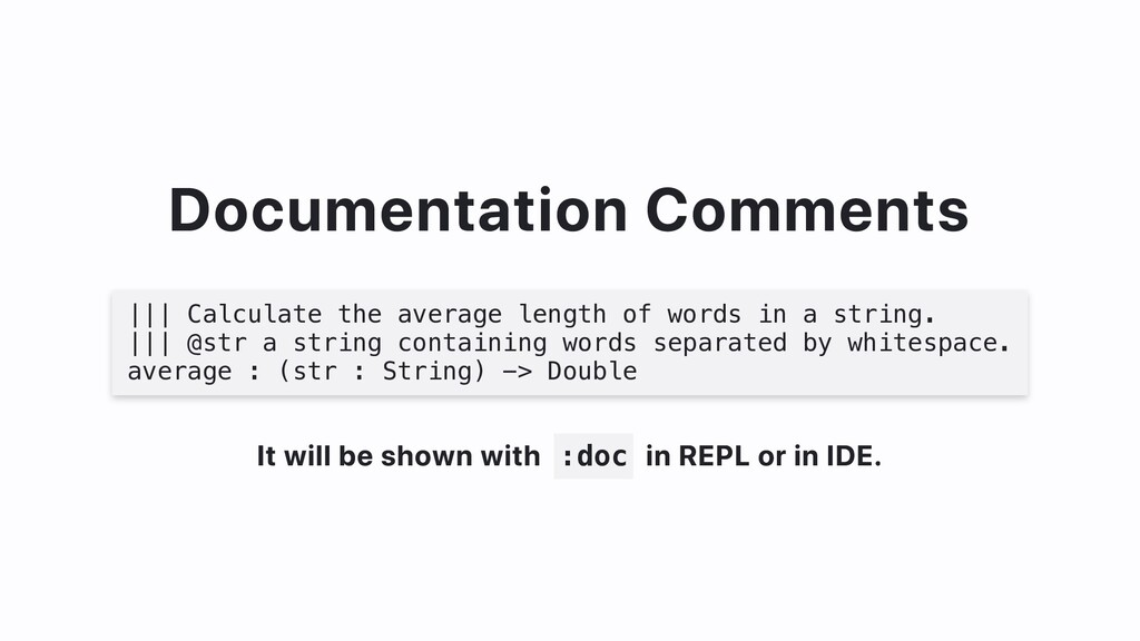 Documentation Comments ||| Calculate the averag...