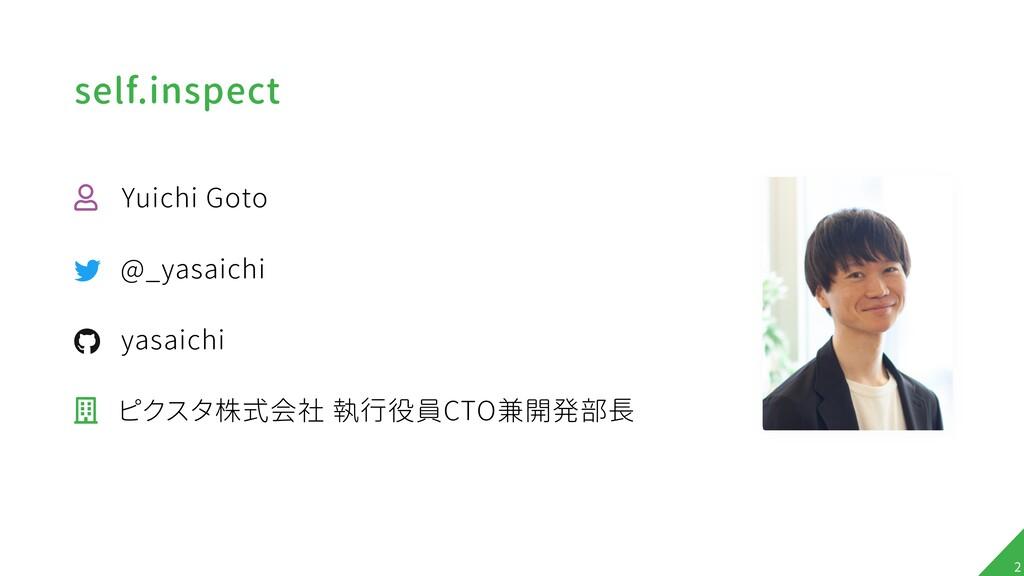 "self.inspect ! Yuichi Goto ! @_yasaichi "" yasai..."