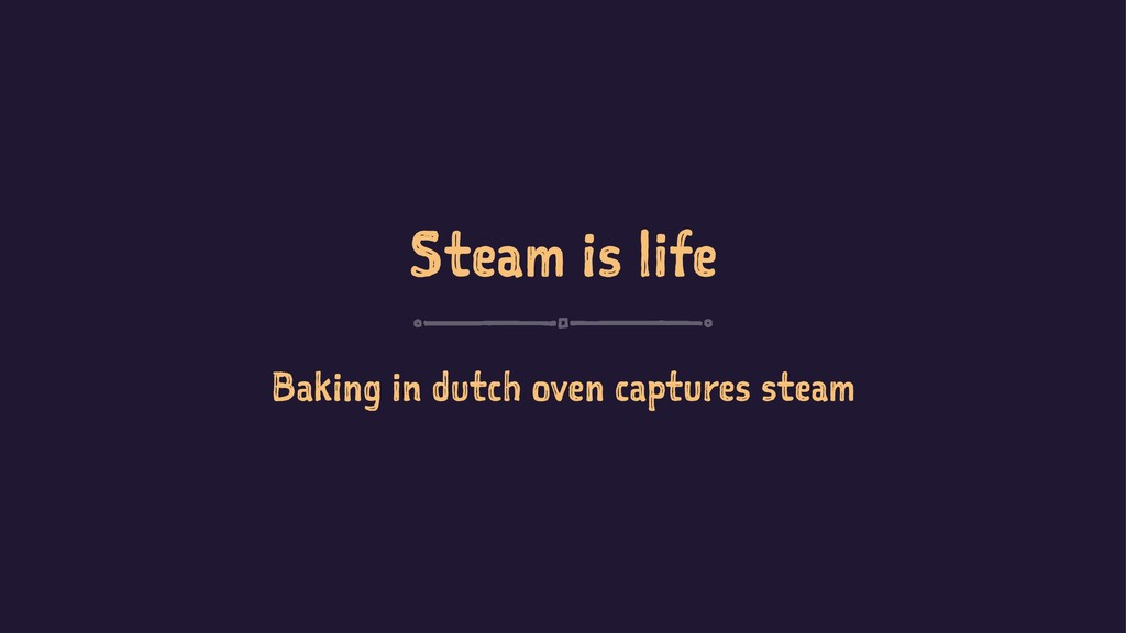 Steam is life Baking in dutch oven captures ste...