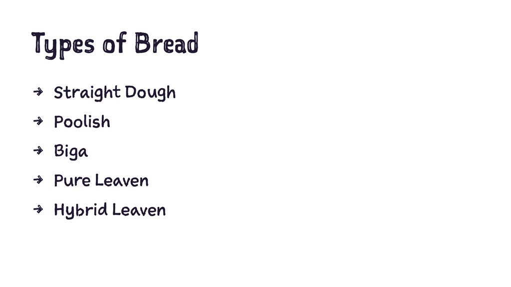 Types of Bread 4 Straight Dough 4 Poolish 4 Big...