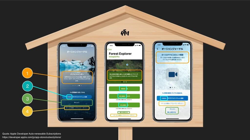 1 Quate: Apple Developer Auto-renewable Subscr...