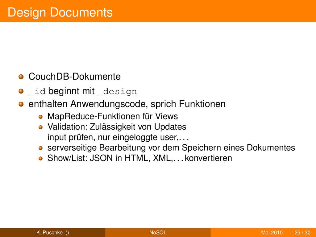Design Documents CouchDB-Dokumente _id beginnt ...