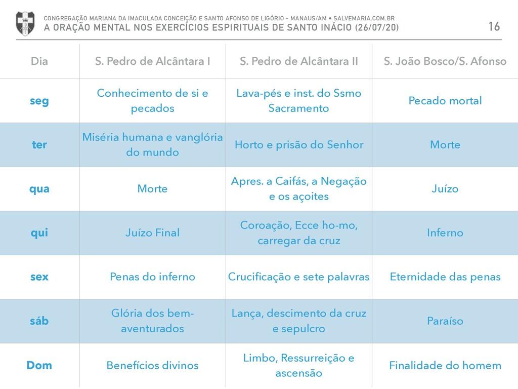 16 CONGREGAÇÃO MARIANA DA IMACULADA CONCEIÇÃO E...