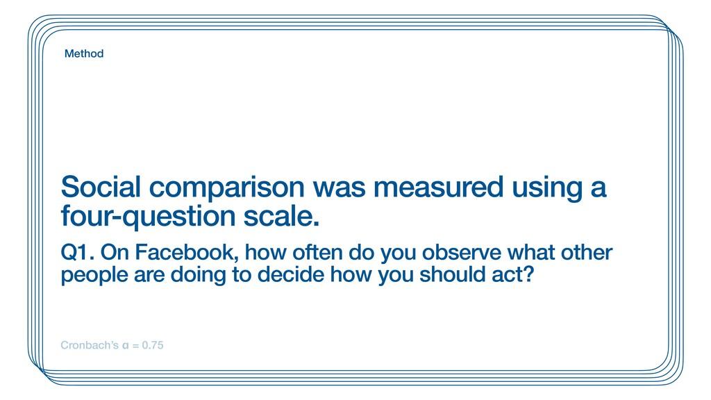 Social comparison was measured using a four-que...