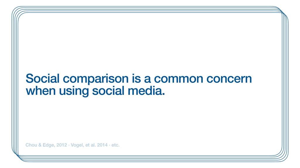Social comparison is a common concern when usin...