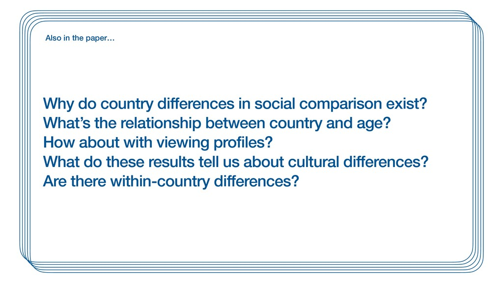 Why do country differences in social comparison...