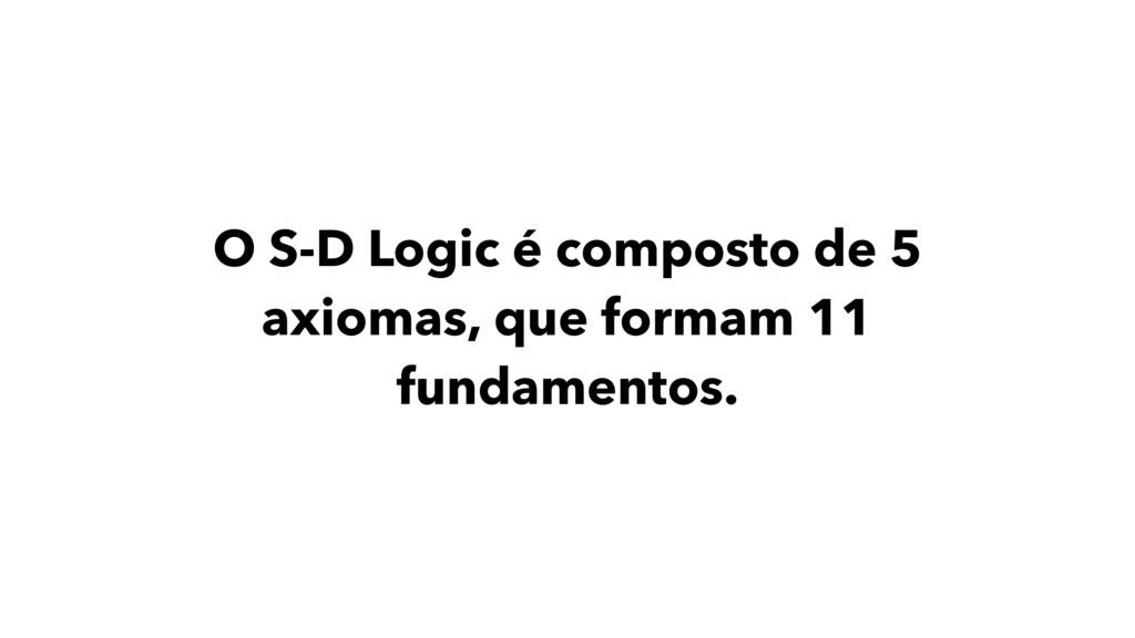 O S-D Logic é composto de 5 axiomas, que formam...