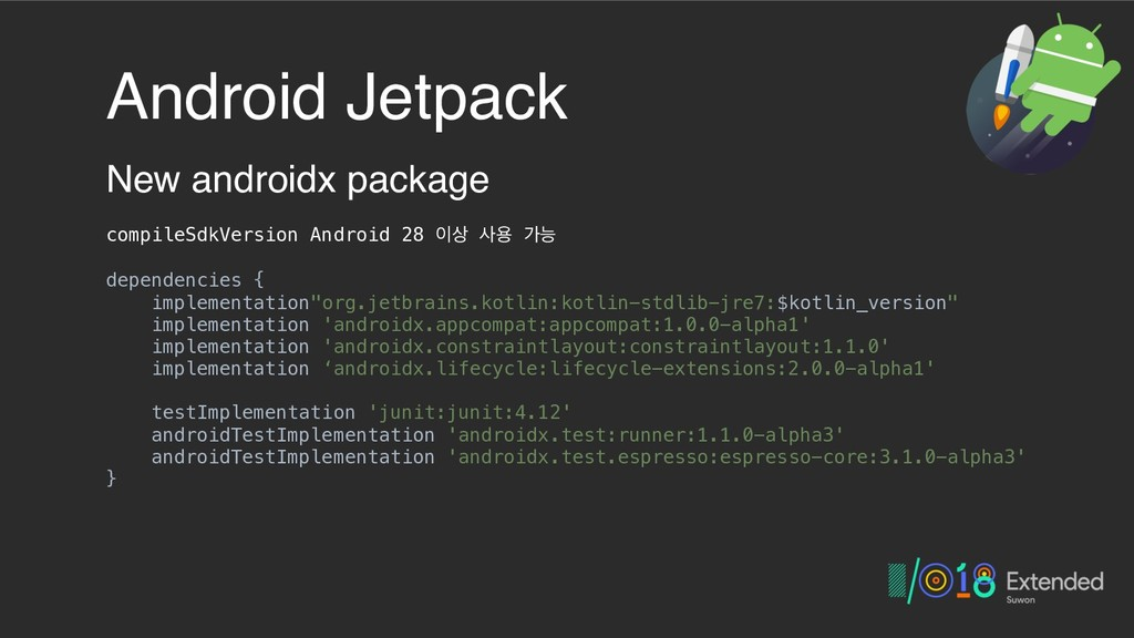 Android Jetpack New androidx package compileSdk...