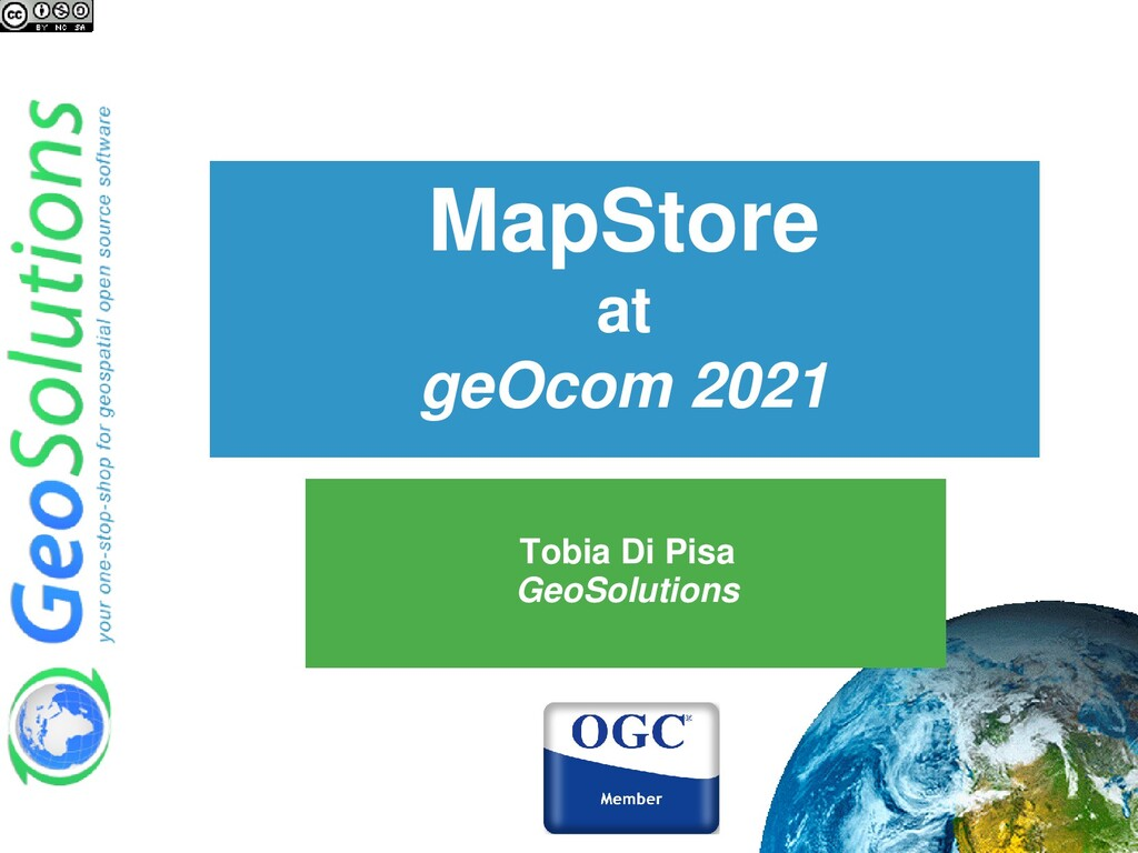 MapStore at geOcom 2021 Tobia Di Pisa GeoSoluti...