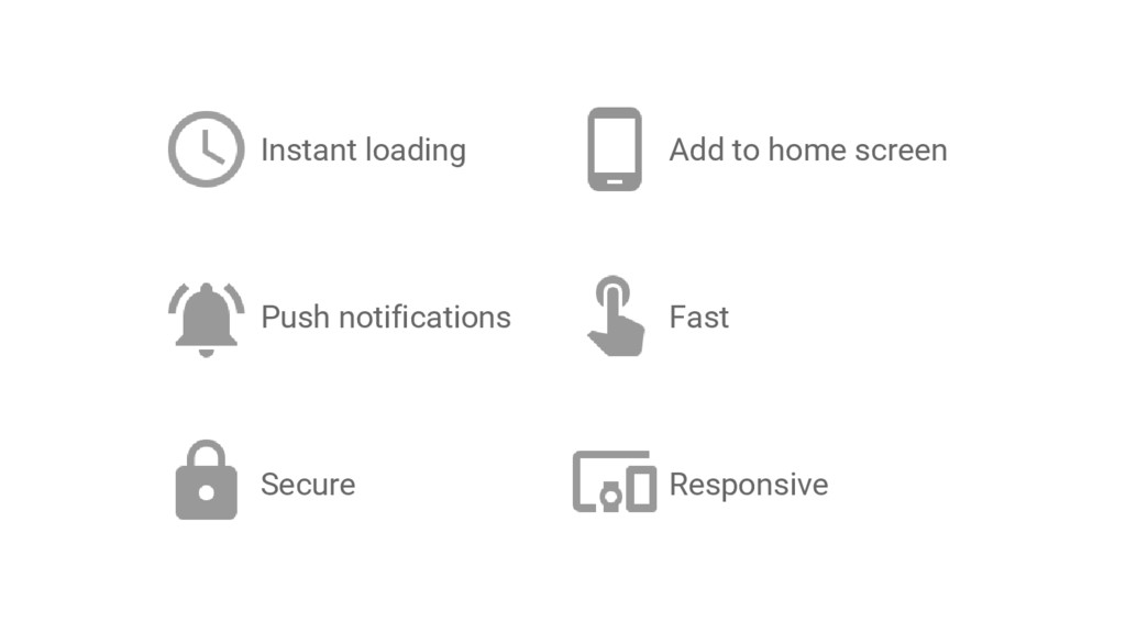 Instant loading Fast Push notifications Add to ...