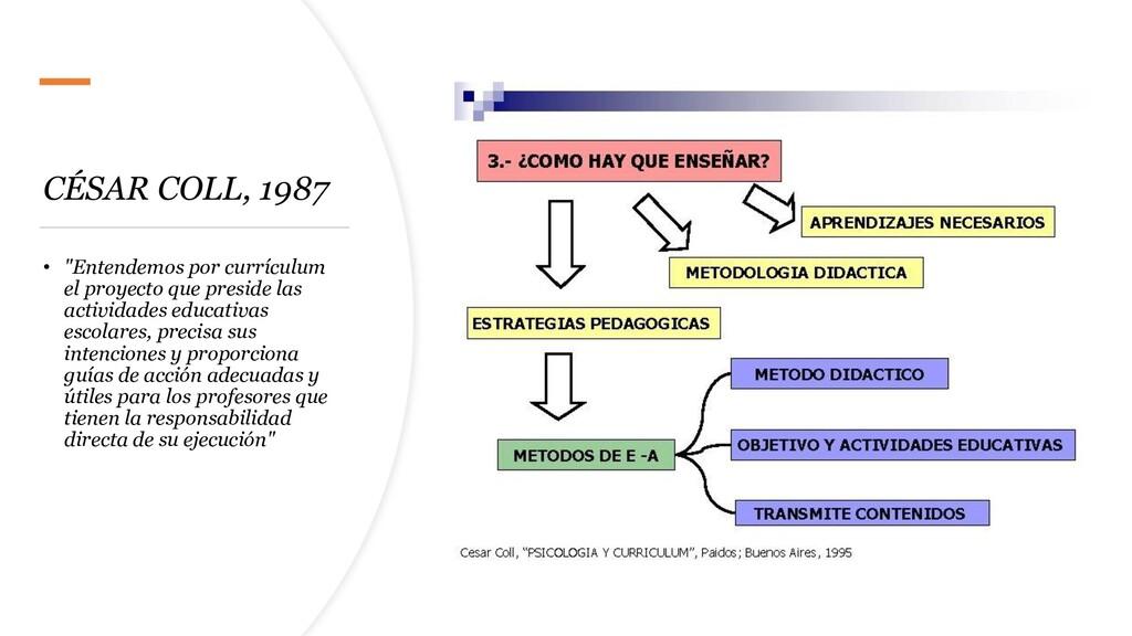 """CÉSAR COLL, 1987 • """"Entendemos por currículum e..."""