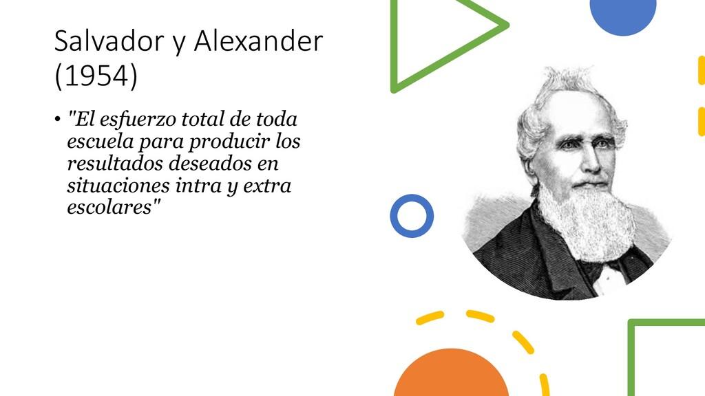 """Salvador y Alexander (1954) • """"El esfuerzo tota..."""