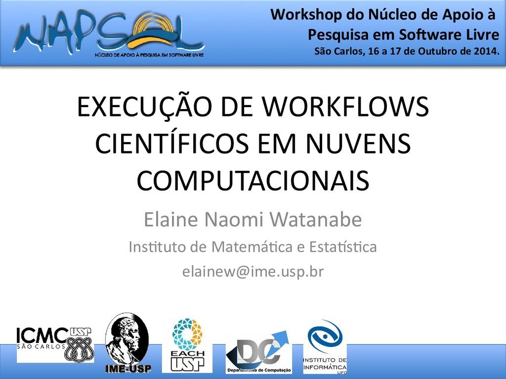 EXECUÇÃO DE WORKFLOWS CIENTÍFICOS EM NUVENS COM...