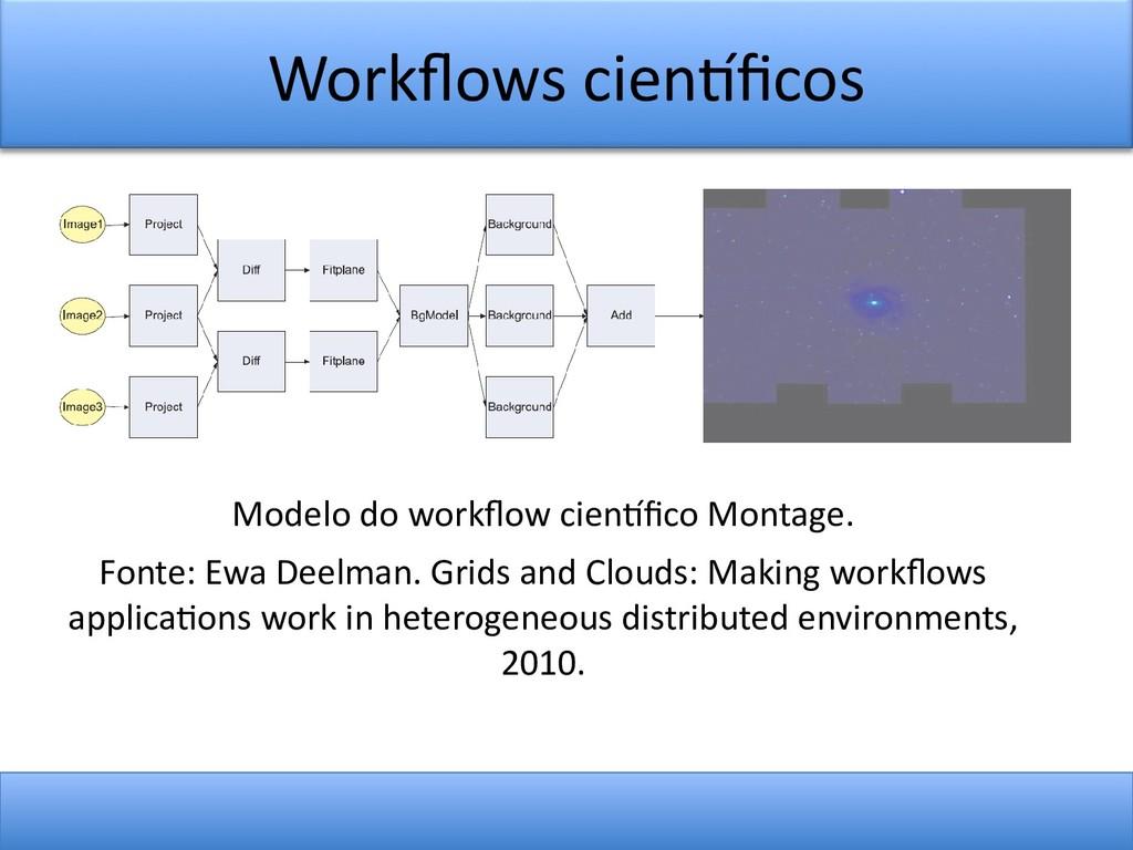 Workfows cientfcos Modelo do workfow cientfco M...