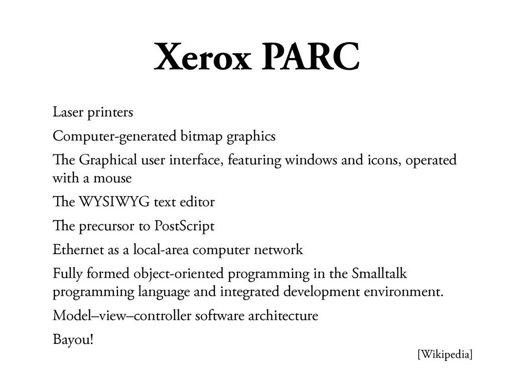 Xerox PARC Laser printers Computer-generated bi...