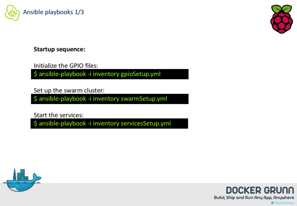Ansible playbooks 1/3 Startup sequence: Initial...