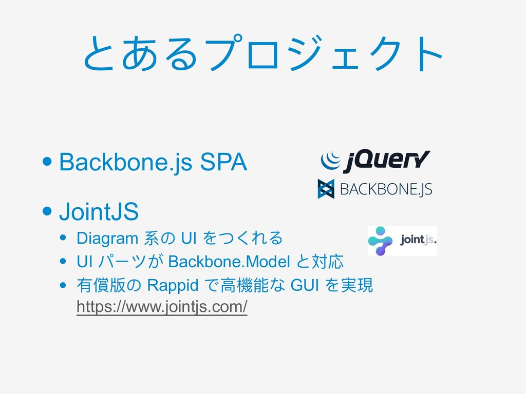 • Backbone.js SPA • JointJS • Diagram 系の UI をつく...