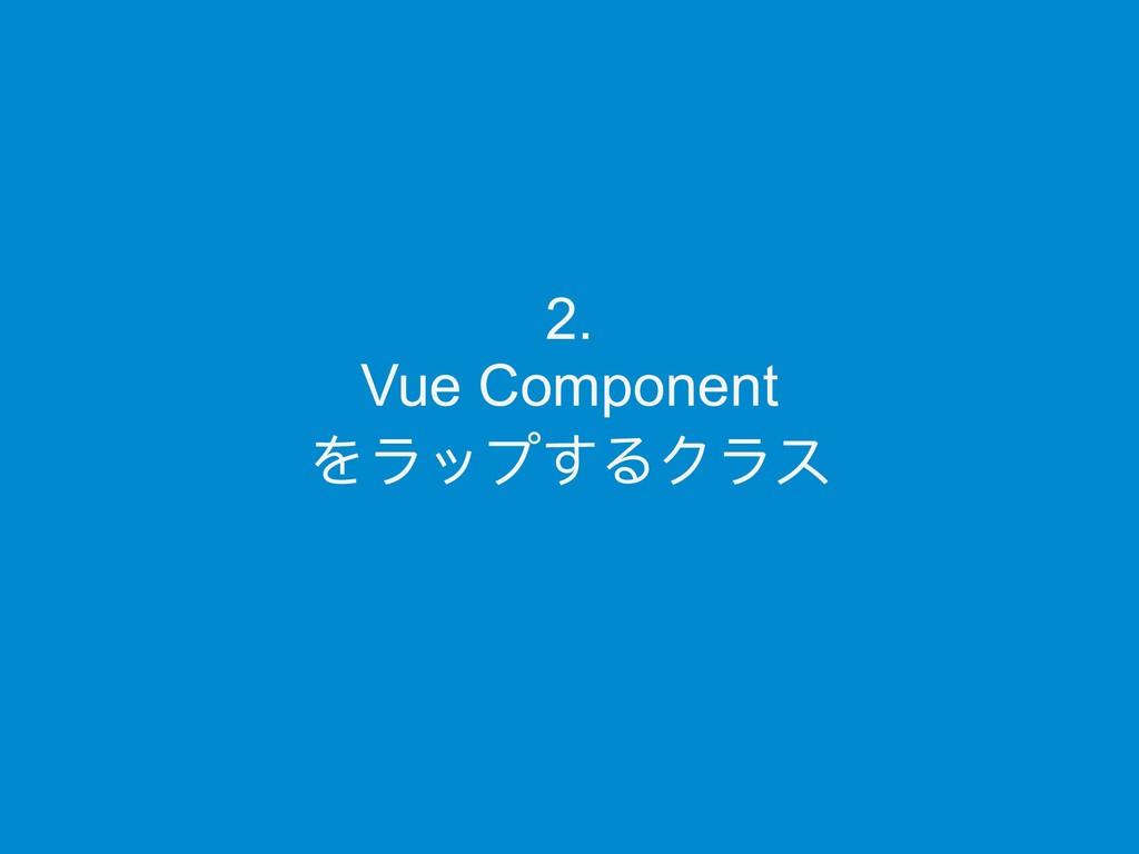 2. Vue Component をラップするクラス