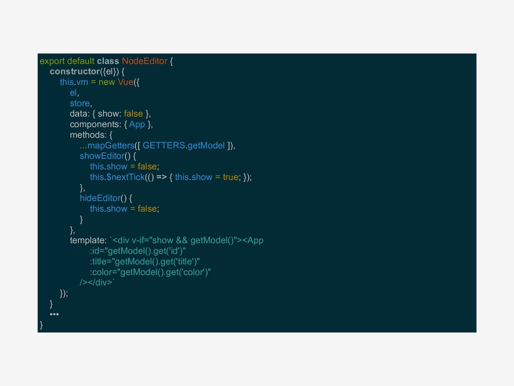 export default class NodeEditor { constructor({...