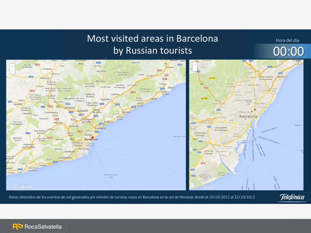 Most visited areas in Barcelona ...