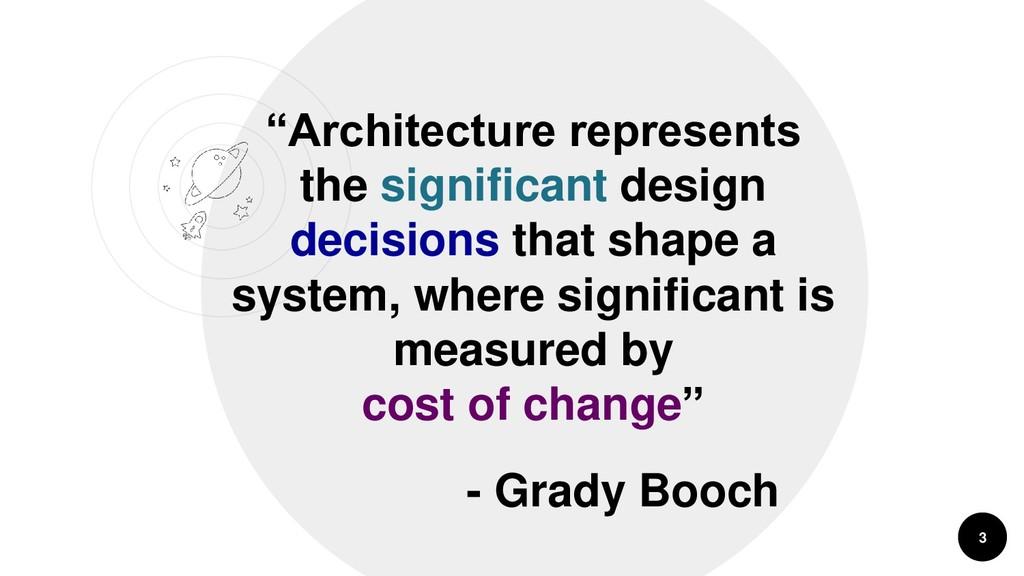 """""""Architecture represents the significant design..."""