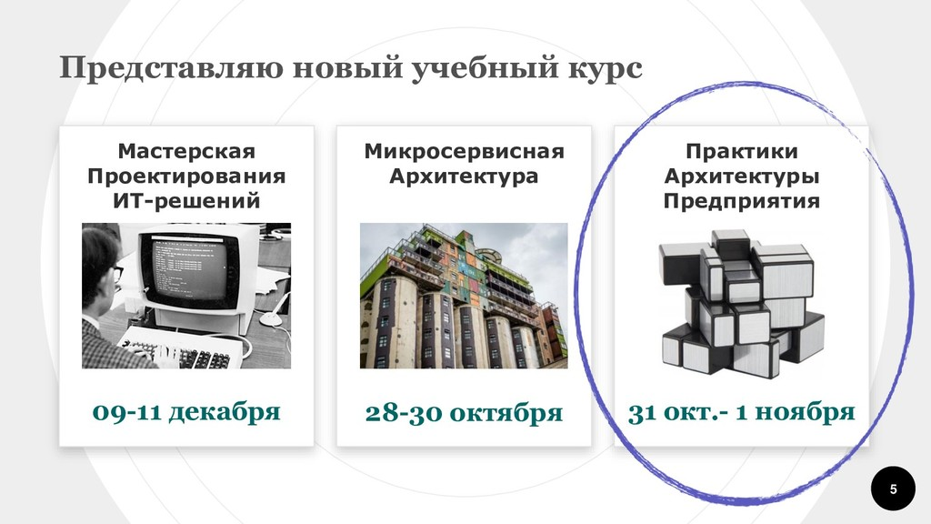 5 Мастерская Проектирования ИТ-решений 09-11 де...