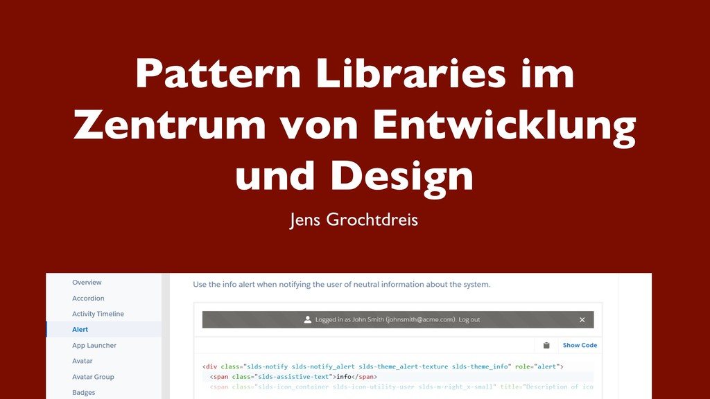 Pattern Libraries im Zentrum von Entwicklung un...