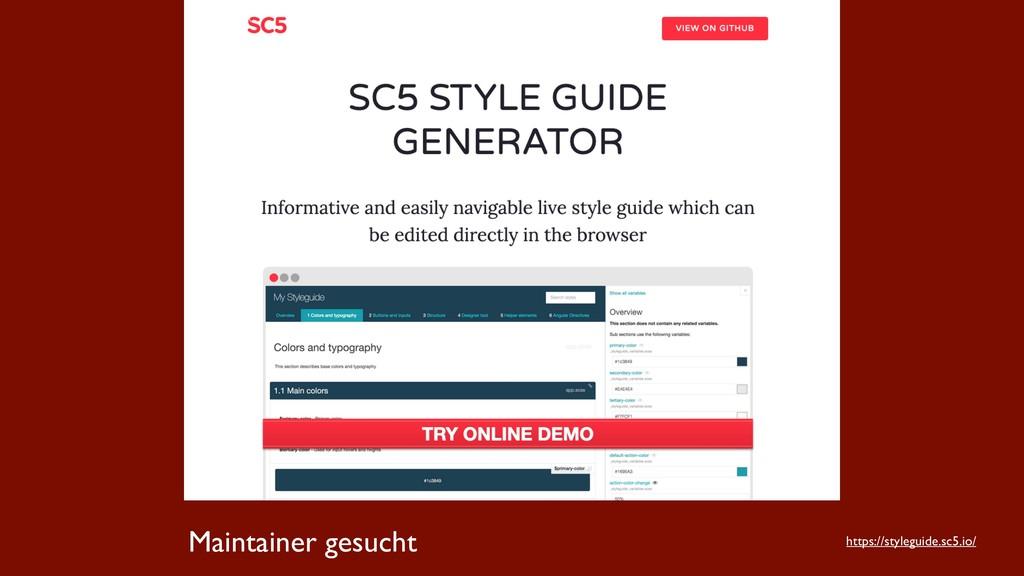 Maintainer gesucht https://styleguide.sc5.io/