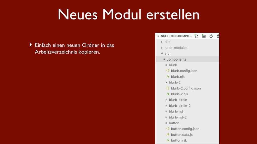 Neues Modul erstellen ‣ Einfach einen neuen Ord...
