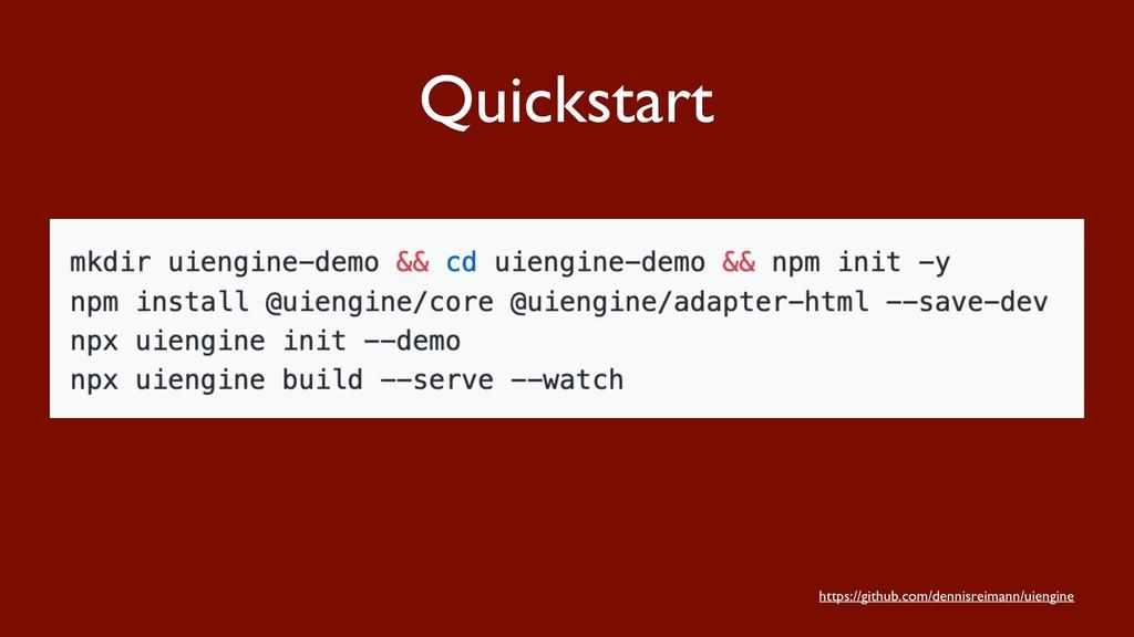 Quickstart https://github.com/dennisreimann/uie...