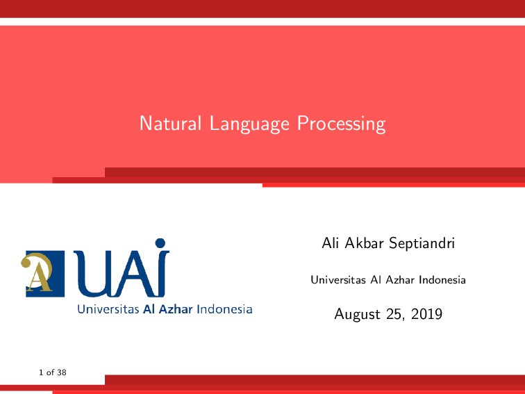 Natural Language Processing Ali Akbar Septiandr...