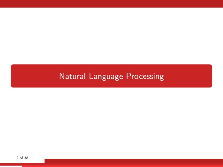 Natural Language Processing 2 of 38