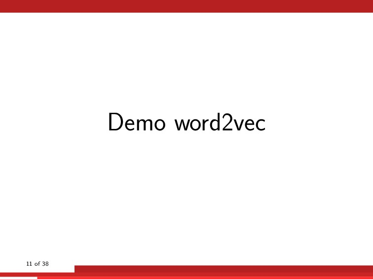 Demo word2vec 11 of 38