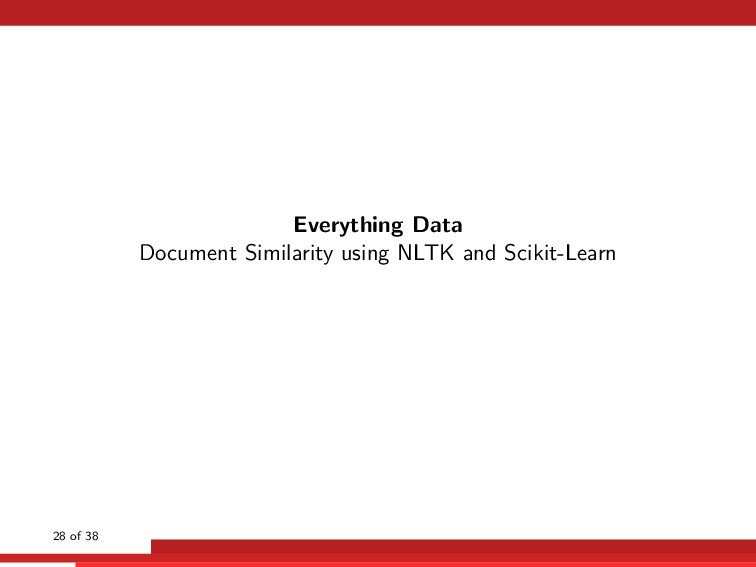 Everything Data Document Similarity using NLTK ...