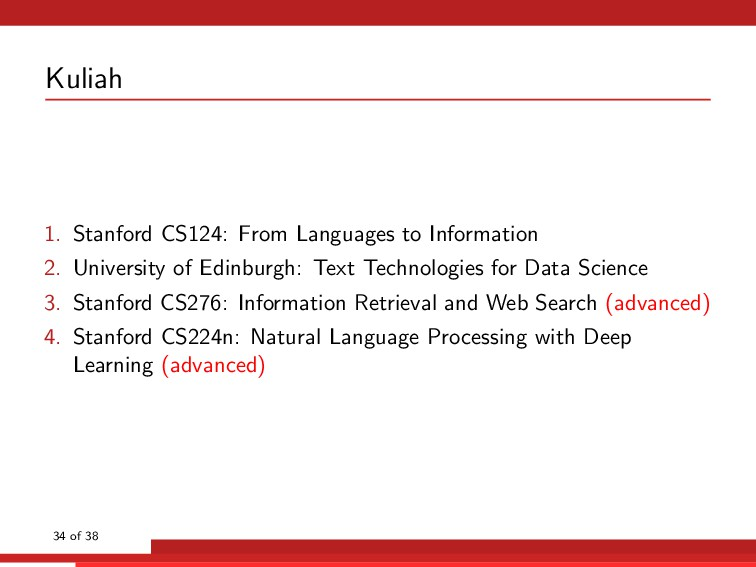 Kuliah 1. Stanford CS124: From Languages to Inf...