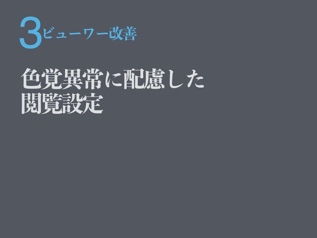 3 ৭֮ҟৗʹྀͨ͠ Ӿཡઃఆ Ϗϡʔϫʔվળ